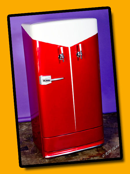 Classic Kegerators, red and white